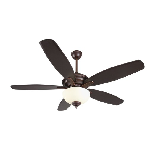 Craftmade Lighting Craftmade Lighting Copeland Oiled Bronze Gilded Ceiling Fan with Light CN52OBG5-WG