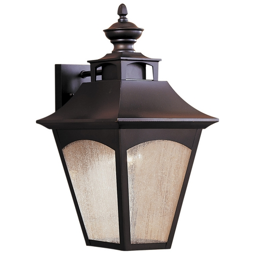 Feiss Lighting Outdoor Wall Light with White Glass in Oil Rubbed Bronze Finish OL1002ORB