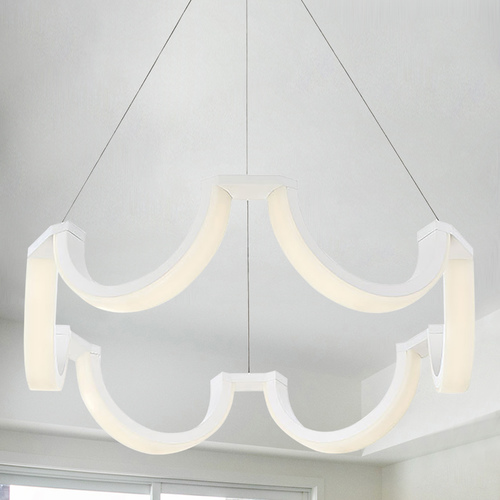 Modern Forms by WAC Lighting Modern Forms Marin White LED Chandelier 3000K 1845LM PD-20829-WT