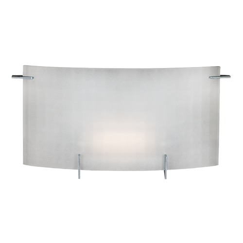 Access Lighting Modern Bathroom Light with White Glass in Chrome Finish 62051-CH/CKF