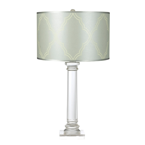 AF Lighting Modern Table Lamp with Blue Shade in Clear Finish 8234-TL
