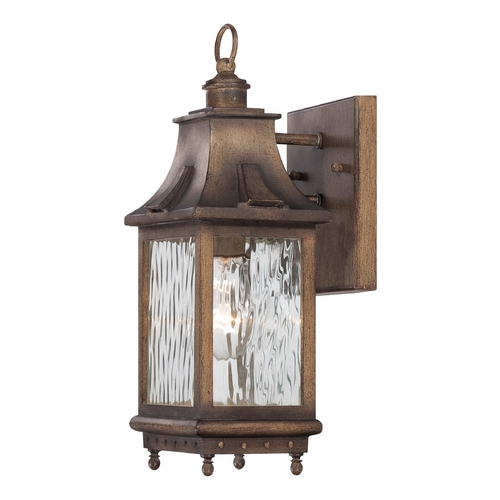 Minka Lavery Outdoor Wall Light with Clear Glass in Portsmouth Bronze Finish 72111-149