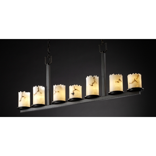 Justice Design Group Justice Design Group Lumenaria Collection Island Light FAL-8779-12-DBRZ