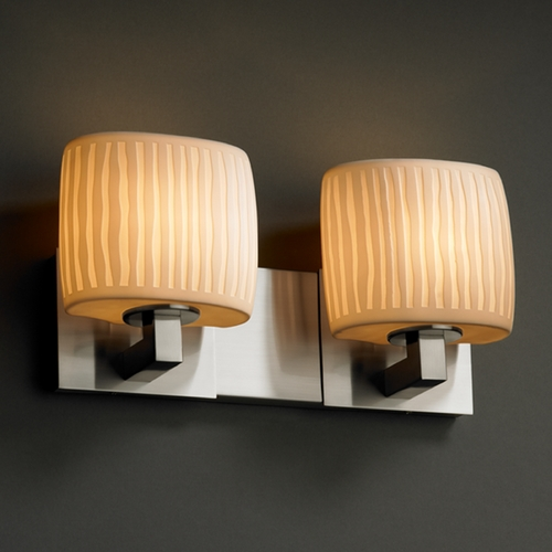 Justice Design Group Justice Design Group Limoges Collection Bathroom Light POR-8922-30-WFAL-NCKL