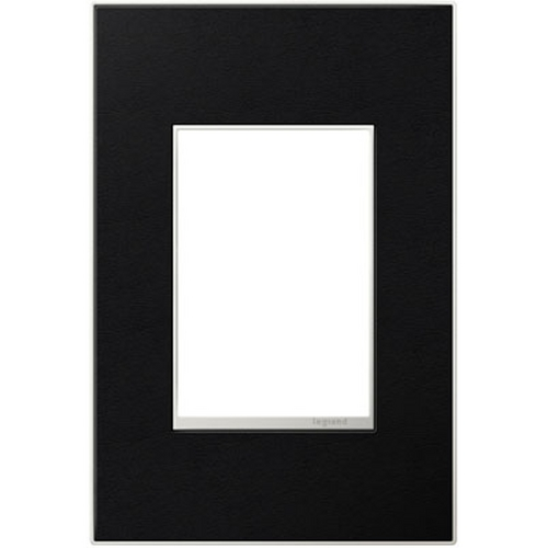 Legrand Adorne Legrand Adorne Black Leather 1-Gang 3-Module Switch Plate AWM1G3LE4