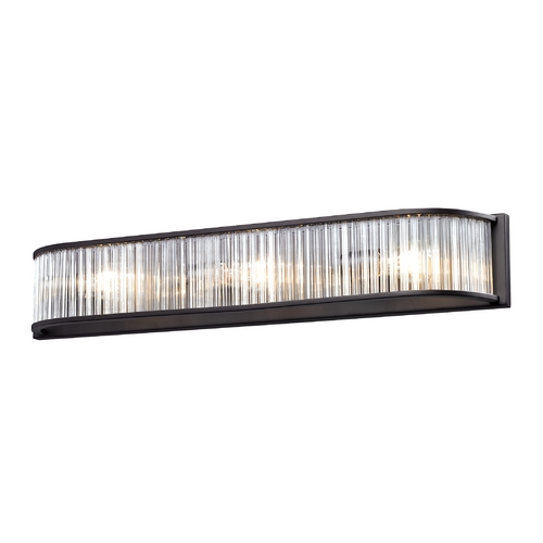 Elk Lighting Modern Bathroom Light in Aged Bronze Finish 10327/3