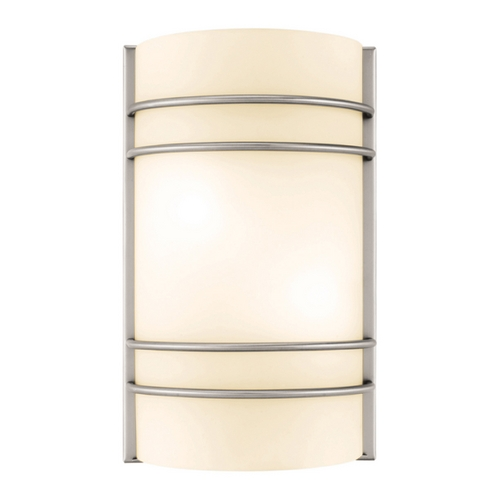 Access Lighting Access Lighting Artemis Brushed Steel Sconce C20416BSOPLEN1218BS