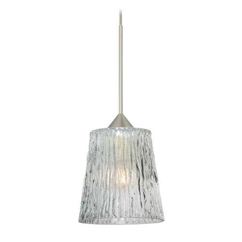 Besa Lighting Besa Lighting Nico Satin Nickel Mini-Pendant Light 1XT-512500-SN