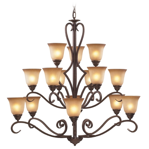Cornerstone Lighting Cornerstone Lighting Lawrenceville Mocha Chandelier 1815CH/12