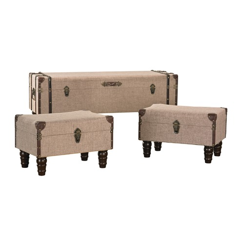 Sterling Lighting Linen Covered Travelers Trunks 170-002/S3