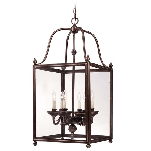 Savoy House Savoy House Old Bronze Pendant Light with Square Shade 3-80024-6-323