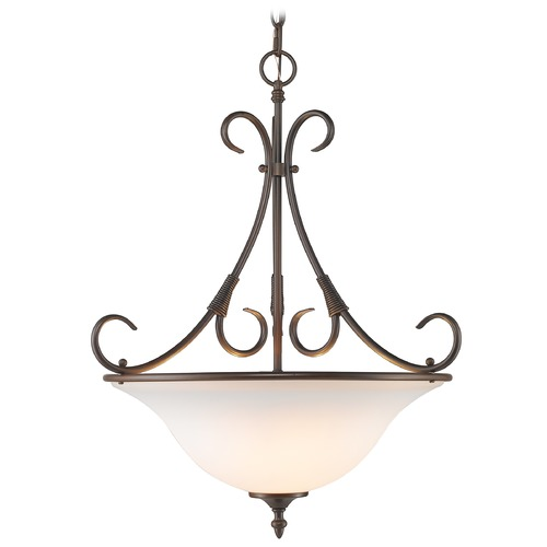 Golden Lighting Golden Lighting Homestead Rubbed Bronze Pendant Light 8606-3P RBZ-OP