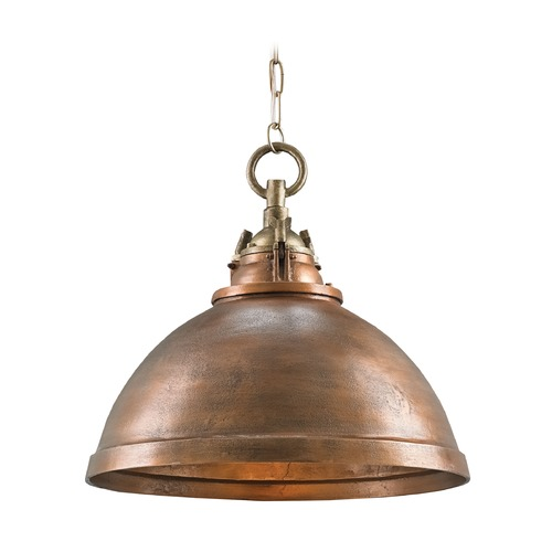 Currey and Company Lighting Currey and Company Admiral Copper/antique Brass Pendant Light 9857