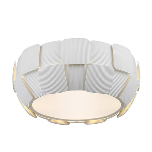 Access Lighting Access Lighting Layers White LED Flushmount Light 50900LEDD-WH/WH