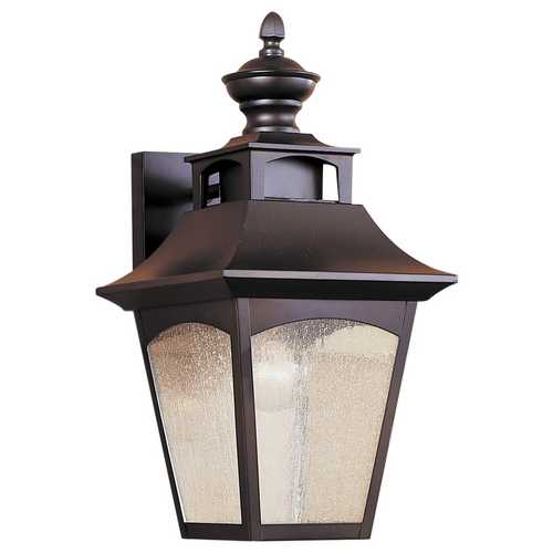 Feiss Lighting Outdoor Wall Light with White Glass in Oil Rubbed Bronze Finish OL1001ORB