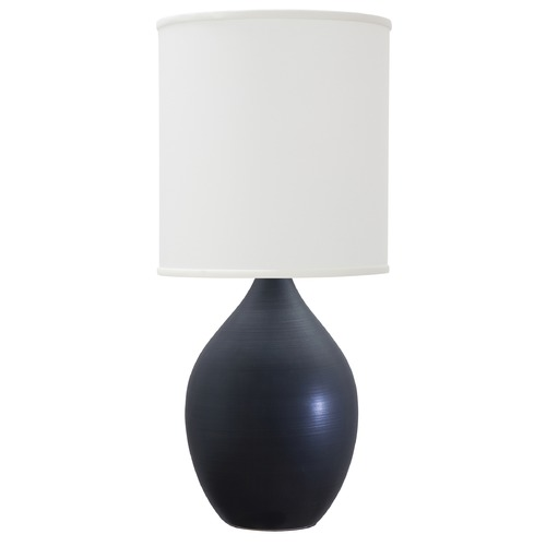 House of Troy Lighting House of Troy Scatchard Black Matte Table Lamp with Cylindrical Shade GS201-BM