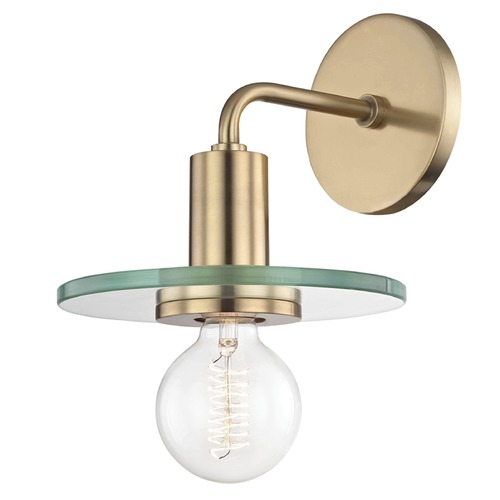 Hudson Valley Lighting Mid-Century Modern Brass Sconce Mitzi by Hudson Valley H113101-AGB