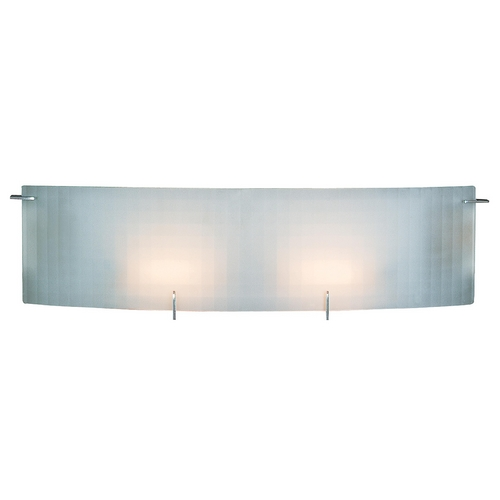 Access Lighting Modern Bathroom Light with White Glass in Chrome Finish 62052-CH/CKF