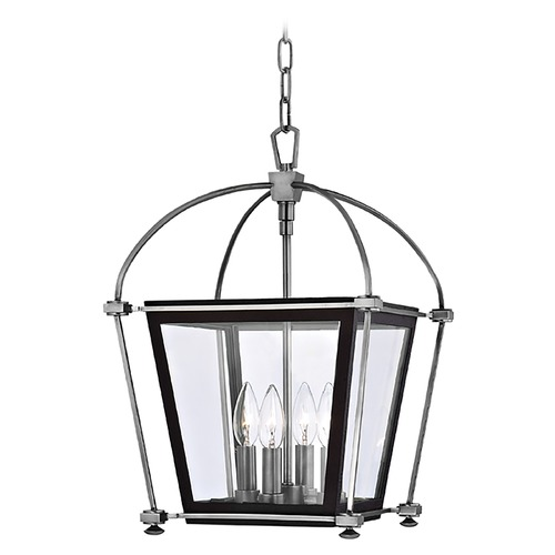 Hudson Valley Lighting Pendant Light with Clear Glass in Polished Nickel Finish 3612-PN