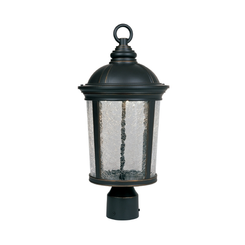 Designers Fountain Lighting LED Post Light with Clear Glass in Aged Bronze Patina Finish LED21346-ABP