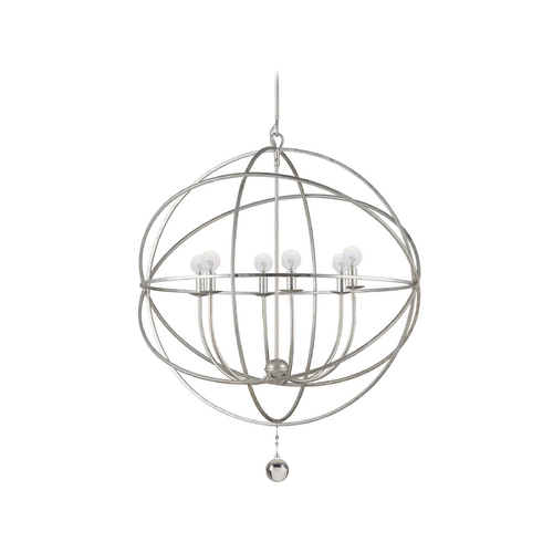 Crystorama Lighting Chandelier in Olde Silver Finish 9228-OS