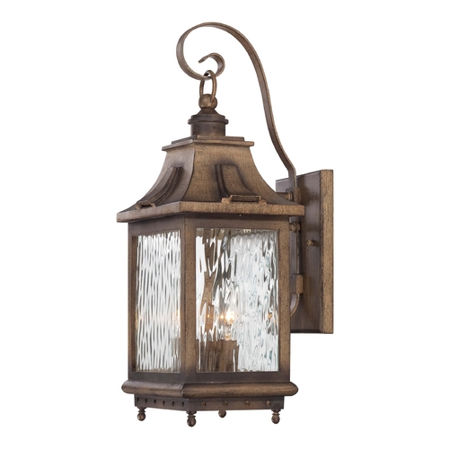 Minka Lavery Outdoor Wall Light with Clear Glass in Portsmouth Bronze Finish 72112-149