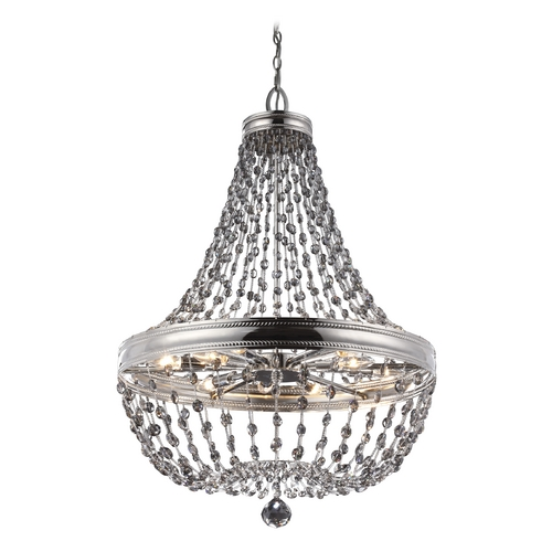 Feiss Lighting Feiss Lighting Malia Polished Nickel Pendant Light F2914/12PN