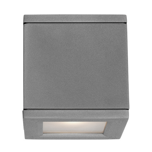 Modern Forms by WAC Lighting Modern Forms Rubix Graphite LED Outdoor Wall Light WS-W2505-GH