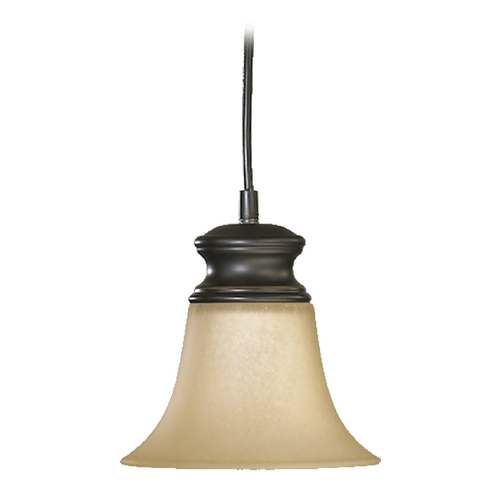 Quorum Lighting Quorum Lighting Madison Old World Mini-Pendant Light with Bell Shade 3174-95
