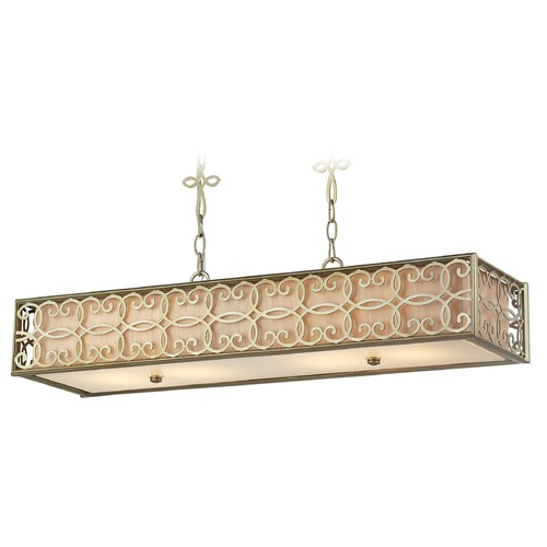 Elk Lighting Elk Lighting Santa Monica Aged Silver Island Light with Rectangle Shade 31525/4