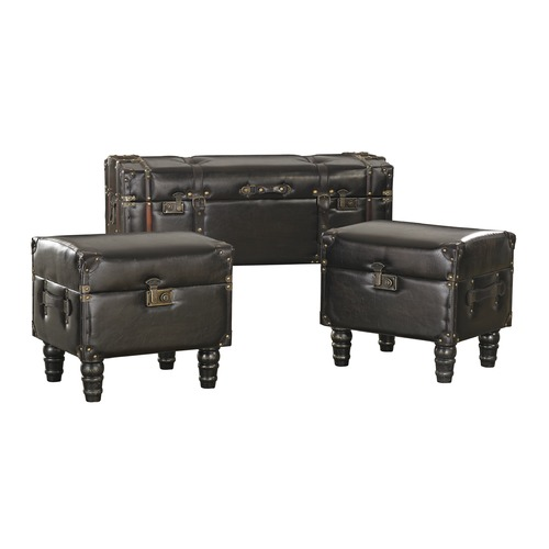 Sterling Lighting Set of 3 Travelers Storage Trunks 170-003/S3