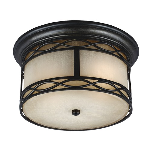 Feiss Lighting Feiss Lighting Wellfleet Aged Bronze Close To Ceiling Light OL10913ABR