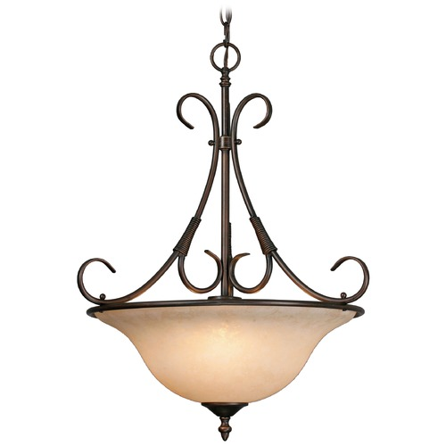 Golden Lighting Golden Lighting Homestead Rubbed Bronze Pendant Light 8606-3P RBZ-TEA