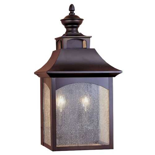 Feiss Lighting Outdoor Wall Light with White Glass in Oil Rubbed Bronze Finish OL1003ORB