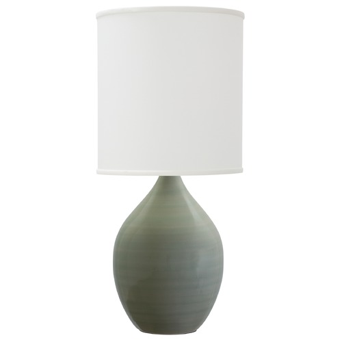 House of Troy Lighting House Of Troy Scatchard Celadon Table Lamp with Cylindrical Shade GS201-CG