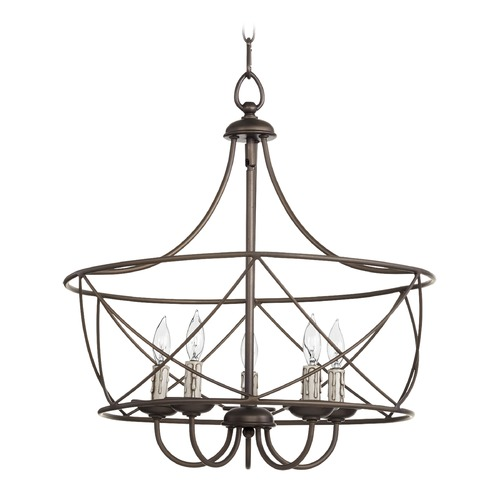Quorum Lighting Quorum Lighting Cilia Oiled Bronze Pendant Light 6416-5-86