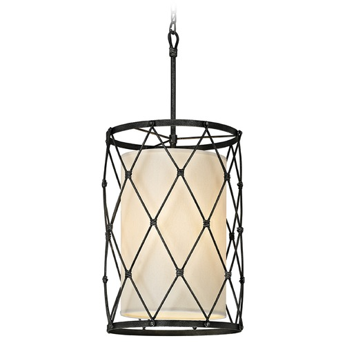 Troy Lighting Troy Lighting Palisade Aged Pewter Pendant Light with Cylindrical Shade F5944