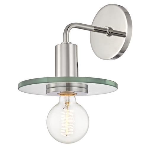 Mitzi by Hudson Valley Mid-Century Modern Sconce Polished Nickel Mitzi by Hudson Valley H113101-PN