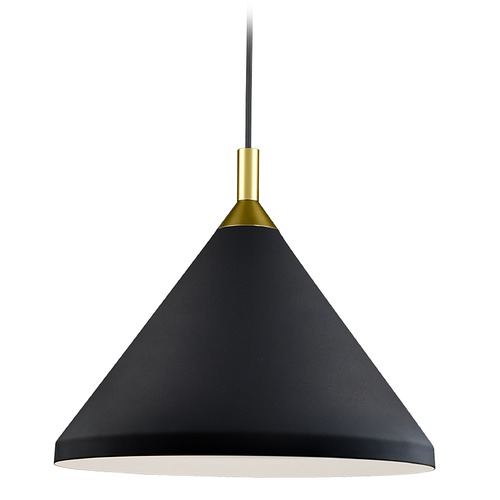 Kuzco Lighting Kuzco Lighting Dorothy Black / Gold Pendant Light with Conical Shade 492814-BK/GD