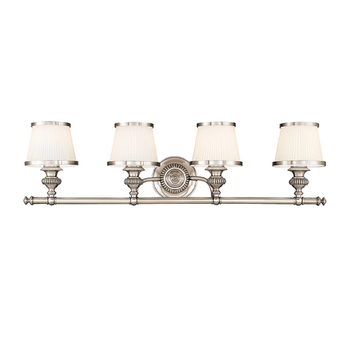 Hudson Valley Lighting Bathroom Light with White Glass in Polished Nickel Finish 2004-PN