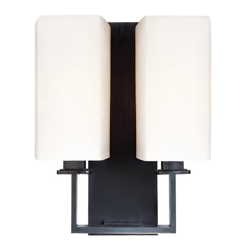 Hudson Valley Lighting Modern Sconce Wall Light with White Shades in Polished Nickel Finish 722-PN