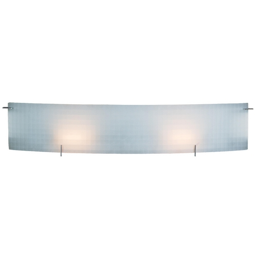 Access Lighting Modern Bathroom Light with White Glass in Chrome Finish 62053-CH/CKF