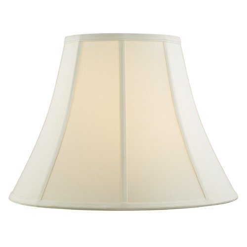Design Classics Lighting Off White Bell Fabric Lamp Shade with Piping and Spider Assembly SH9695