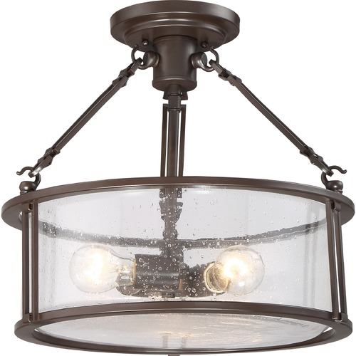 Quoizel Lighting Quoizel Buchanan Bronze Semi-Flushmount Light BCN1716WT