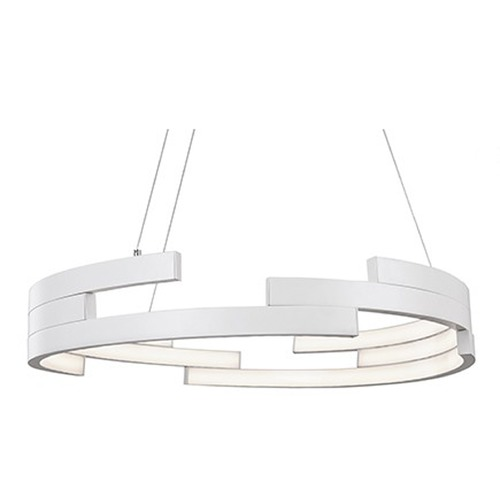 Kuzco Lighting Kuzco Lighting White LED Pendant Light PD12732-WH