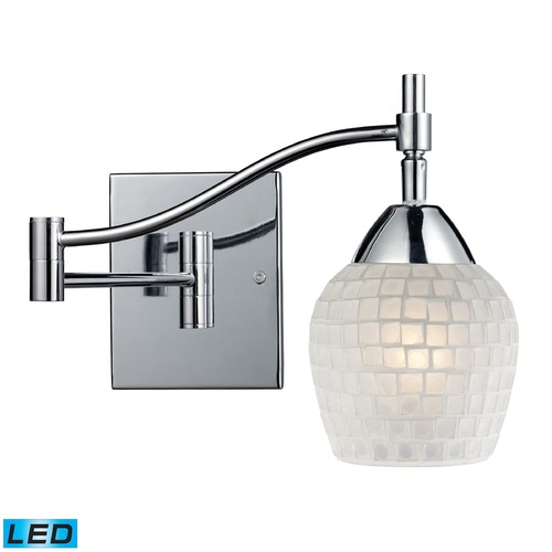 Elk Lighting Elk Lighting Celina Polished Chrome LED Swing Arm Lamp 10151/1PC-WHT-LED