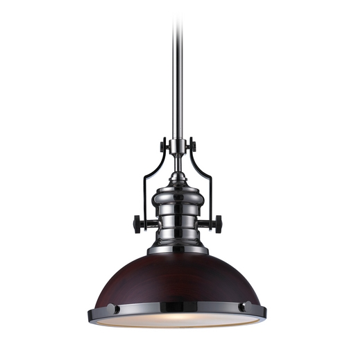 Elk Lighting Pendant Light in Polished Nickel Finish 66566-1
