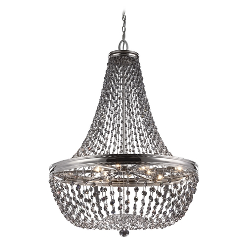 Feiss Lighting Feiss Lighting Malia Polished Nickel Pendant Light F2915/9PN