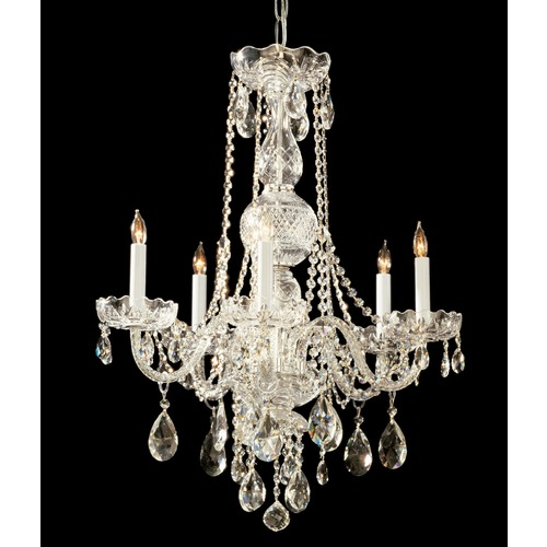 Crystorama Lighting Crystorama Lighting Traditional Crystal Polished Brass Chandelier 1115-PB-CL-SAQ