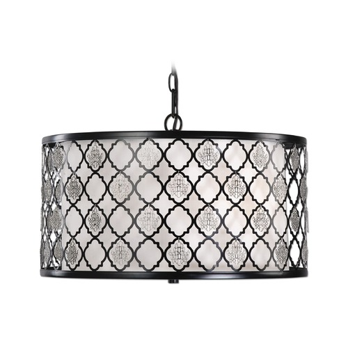Uttermost Lighting Uttermost Filigree 3 Light Drum Pendant 22062